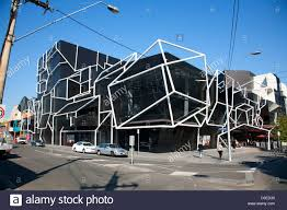 The iconic architecture of the MTC Preforming Arts Sumner Theatre South  Melbourne Victoria Australia