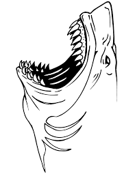 Small Picture Jaws Shark Coloring Page H M Coloring Pages