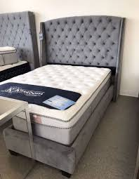 king mattress set. New Gray Velvet Bed Frame - Queen / King Cal Mattress Set Sold Separately Box Spring Required For Sale In Pleasanton, CA OfferUp A