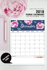 calendar 2018 printable 12 free monthly designs to love