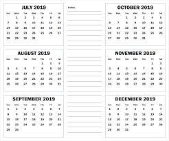 printable 6 month calendar 2019 2019 6 months half year calendar printable download calendarbuzz