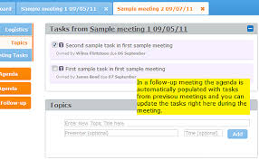 Agenda In Follow-Up Meeting - Meeting Agenda & Meeting Minutes Software