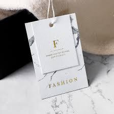 Hot Item Luxury Cardboard Printing Clothing Hang Tag Hair Paper Hangtag