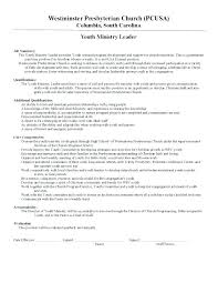 Sample Pastoral Resume Gorgeous Youth Minister Resume Sample Youth Advocate Resume Youth Minister