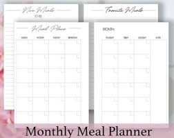 personal diet planner personal meal plan etsy