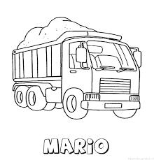 Mario Vrachtwagen Naam Kleurplaat