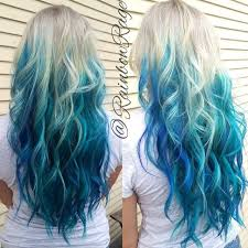 Blonde to blue ombre hair  ombre hair color ideas