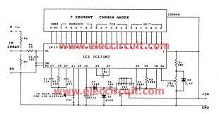 digital ac voltmeter circuit diagram the wiring diagram simple digital voltmeter circuit using icl7107 circuit diagram