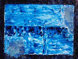 modern urban painting modern abstract blue water painting by holly anderson