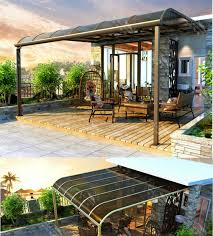 fabric patio covers waterproof. Simple Patio Canopy Design Waterproof Covers Fabric Permanent  Fronthome Chairs Table Deck Wood Intended Patio