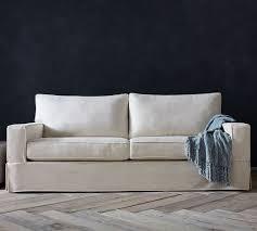 pb comfort square arm slipcovered sofa