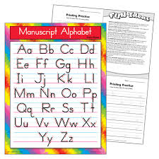 T 38134 Manuscript Alphabet Z B Chart