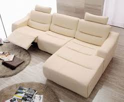 white or beige modern contemporary sofa with chaise google intended for appealing modern leather recliner sofa applied to your house concept