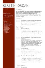 Front Desk Agent Resume Sample