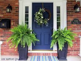 red front door on brick house. Navy Front Door, White Trim, Red Brick House: I Need Search For A Door Color No More! On House S