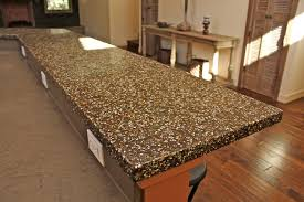 recycled glass concrete countertop colors simple butcher block countertops