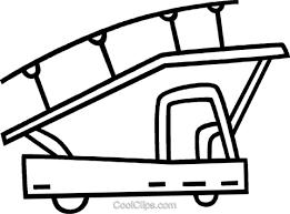 階段を持って空港トラック ロイヤリティ無料ベクタークリップアート