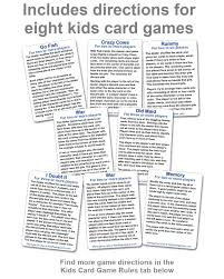 A war in a three or four player game: Kid S Playing Cards Two Pack Word Magnets Jigsaw Puzzles Kids Playing Cards Brook Wyman
