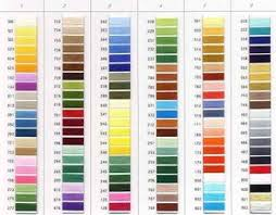 Robison Anton Color Chart Robison Anton 122sbp 9 450 Real Thread Color Card Chart Super Brite 40wt Polyester Embroidery Real Thread Samples Ra Is Made In Usa By A E