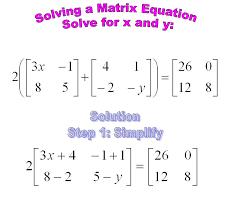 12 solving a matrix equation solve for x