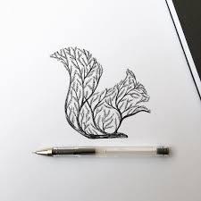 животные и растения как одно целое в рисунках Alfred Basha интернет
