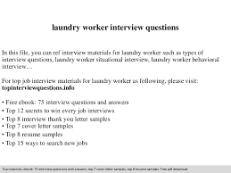 Laundry Worker Cover LetterLaundry Assistant Sample Resume ...