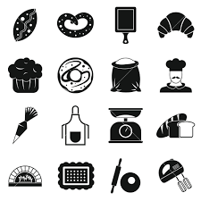 Bakery Icons Set Simple Illustration Of 16 Bakery Vector Icons For