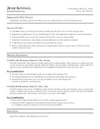 Restaurant Waiter Resumes Restaurant Head Waiter Resume Sample Wait Staff Fresh What Is A Food