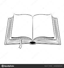 Livre Ouvert Coloriage Illustration Vectorielle Image Vectorielle
