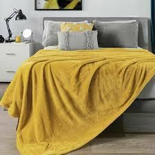 mustard yellow light blanket full queen