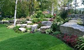 Awesome Large Rock Landscaping Ideas Large Rock Garden Ideas With Green  Grass Natural Rock Garden