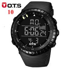 online buy whole mens sport watches waterproof from mens ots digital watches men sports 50m professional waterproof quartz large dial hours military luminous wristwatches 2016