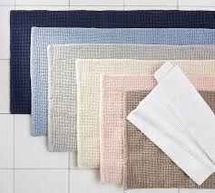 textured organic bath rug pottery barn