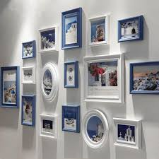 new 16pcs set wooden picture frames family baby photo frame for wall home
