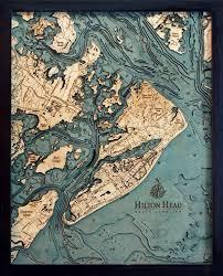 Wood Bathymetric Charts Bathymetric Map Hilton Head South Carolina