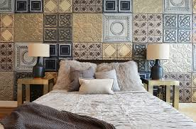 View In Gallery Metallic Tiles Create The Perfect Accent Wall For The Industrial  Bedroom [By Contour Interior Design