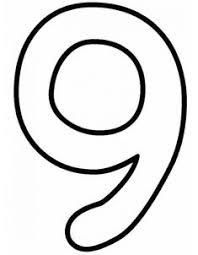 Disegno Di Numero Nove Da Colorare Numeri Da Stampare Disegni