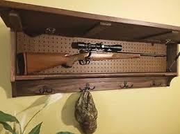 Rifle Coat Rack COAT HAT RACK WITH HIDDEN GUN CONCEALMENT STORAGE CABINET SECRET 86