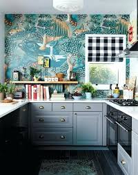 kitchen wallpaper ideas gray and teal eclectic design designs