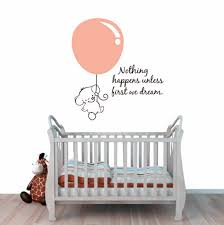 cute elephant wall stickers baby pulled balloon decals