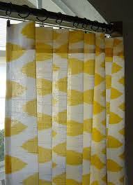 Kitchen Curtains Yellow Yellow And White Ikat Curtains Chipper Rod Pocket 63 72 84 90 96