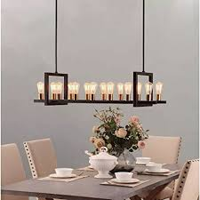 farmhouse chandelier lighting great for dining rooms and kitchen island areas rectangular linear hanging lamp long light fixture h96