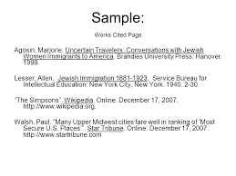 what is a works cited page what is work cited coles thecolossus co