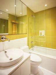 Behind The Color Yellow HGTV - Yellow and white bathroom