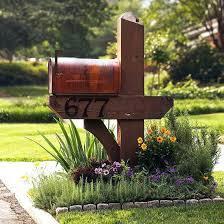 mailbox landscaping designs wood post design ideas mailbox post design ideas n78 design