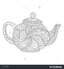 Small Picture Best Free Teapot Coloring Page Vector Design Free Vector Art