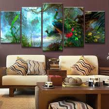 Peacock Colors Living Room Popular Peacock Art Print Buy Cheap Peacock Art Print Lots From