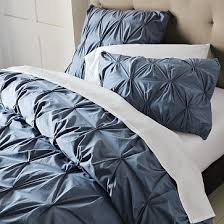 Organic Cotton Pintuck Duvet Cover + Shams | King size duvet ... & West Elm organic cotton pintuck duvet cover Adamdwight.com