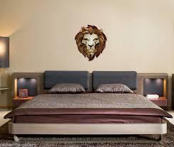 lion metal wall sculpture art contemporary home decor modern wall hanging