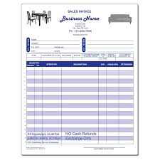 Sales Invoice Furniture Sales Invoice Carbonless Form Printing